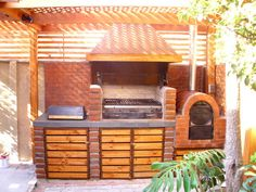 Barbecue Design, Grill Design, Built In Braai, Casa Loft, Backyard Renovations, Wood Fired Oven, Outdoor Living, Outdoor Decor, Bbq Grill