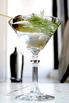 With mustard seeds, dill sprigs, and a snappy kosher dill set in vodka, St. Dill is a twist on the classic dirty martini.