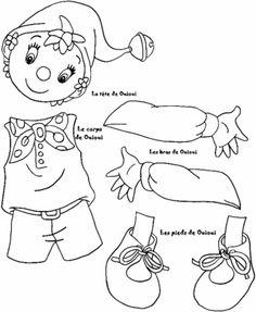 Blog Blogpatou.sosblog.fr : Activité pantin articulé Paper Puppets, Paper Toys, Paper Crafts, Christmas Coloring Sheets, Cool Coloring Pages, Shadow Puppets, Christmas Colors, Applique Designs, Doll Patterns