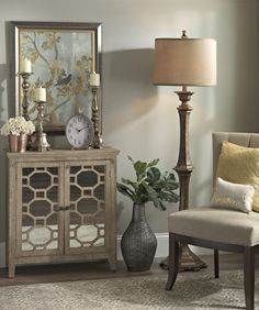 It's all about a the sparkle this season. From mirrored cabinets to glossed candle stands, find the light and beauty for your home in our Metallic Collection.