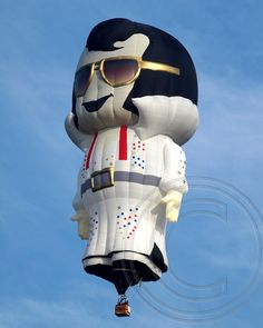 """'Elvis' Hot Air Balloon at the 2013 Hot Air Balloon Festival at Solberg Airport in Readington, NJ - photo by jag9889, via Flickr ...The Albuquerque International Balloon Fiesta lists this one as """"Aaron."""""""