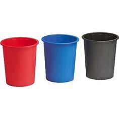 Papelera fabricada en polipropileno en color Rojo, de 14 litros. Dimensiones: 280 x 310. - El Compas Online
