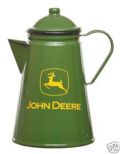 John Deere Decorative Camp Fire Coffee Pot