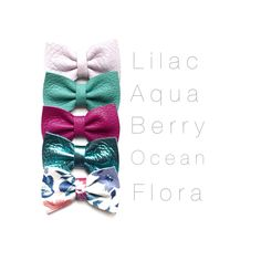 Thank you for shopping our SPRING Minni Ellie Bows! This listing is for our minni 1 3/4inch Ellie Bows! All that are listed here and come on your choice of nylon band or alligator clip . PLEASE specify nylon or clip at time of ordering! Or bow will come on alligator clip.