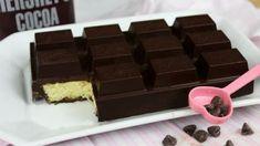 Μπάρα σοκολάτας με γέμιση κέικ! Συνταγή και Βίντεο