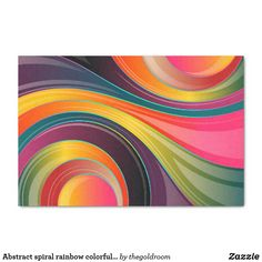 Abstract spiral rainbow colorful design tissue paper#tissuepaper #customtissue #edge-to-edgeprint #giftgiving