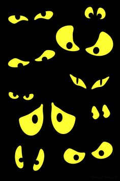 Spooky Eyes by Carlos Phillips Scary Eyes, Spooky Eyes, Halloween Eyes, Halloween Cartoons, Halloween Birthday, Halloween House, Holidays Halloween, Spooky Halloween, Halloween Crafts