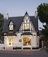 Louis Vuitton Villa - Deauville, France tudor cottage