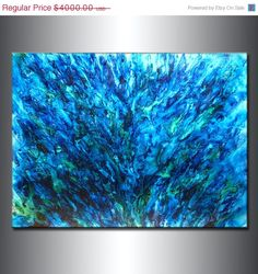Abstract Art Huge Abstract Painting Original by newwaveartgallery, $2800.00