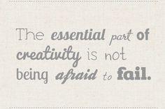 Keep being creative