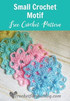 crochet stitches patterns Small Crochet Motif - free crochet pattern - The Small Crochet Motif is so pretty and simple. There are many ways to use them in your crochet designs.Crochet Shell N Picots Scarf - free pattern. This scarf pattern makes with croc Crochet Afghans, Crochet Motif Patterns, Granny Square Crochet Pattern, Tunisian Crochet, Crochet Squares, Bead Crochet, Crochet Designs, Knitting Patterns, Granny Square Häkelanleitung