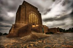 The Voortrekker Monument is a monument in the city of Pretoria, South Africa. The massive granite structure, built to honour the Voortrekkers who left the Cape Colony between 1835 and was designed by the architect Gerard Moerdijk who had the idea to Cape Colony, Soli Deo Gloria, Namibia, Pretoria, African History, African Art, Africa Travel, Countries Of The World, Places To See