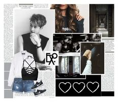 """""""EXO Lay requested One Shot! ❤️❤️❤️❤️❤️❤️❤️❤️❤️❤️"""" by akinddakai ❤ liked on Polyvore featuring Mountain Lodge, TIBI, AG Adriano Goldschmied, NIKE and bathroom"""