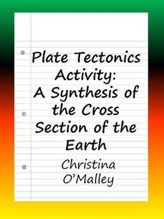 Tectonic plate boundaries summary chart with answer key free plate tectonics activity a synthesis of the cross section fandeluxe