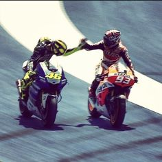 Valentino Rossi And Marc Marquez Rossi bowing to Marquez