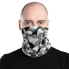 This neck gaiter is a versatile accessory that can be used as a face covering, headband, bandana, wristband, and neck warmer. Upgrade your accessory game and find a matching face shield for each of your outfits. Balaclava, Neck Warmer, Fabric Weights, Stretch Fabric, Bandana, Camo, Stylish, Etsy Shop, Group
