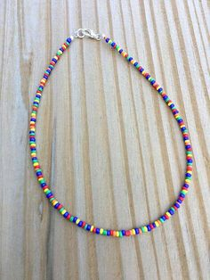 Beaded Choker Necklace, Seed Bead Necklace, Seed Bead Jewelry, Diy Necklace, Cute Jewelry, Jewelry Gifts, Jewelery, Beaded Bracelets, Diy Accessories