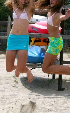 Jumping at the beach!