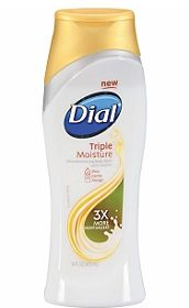 DIAL TRIPLE MOISTURE BODY WASH. Has Jojoba, Shea and Mango Butters plus makes MOUNDS of bubbles! Leaves your skin so soft and moisturized . Natural sweet scent. $3.99 at Walmart .