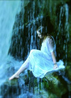 Character who has power to control water; her special place in which to be alone is beneath a waterfall.