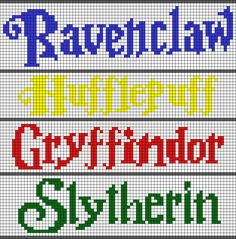New Knitting Charts Harry Potter Hogwarts Houses Ideas Pixel Art Harry Potter, Harry Potter Perler Beads, Harry Potter Cross Stitch Pattern, Harry Potter Crochet, Bead Loom Patterns, Perler Patterns, Beading Patterns, Cross Stitch Patterns, Needlepoint Patterns