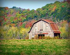 Riverbottom barn in Autumn