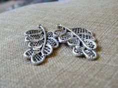 Silver Beaded Earrings Email shenbettridge@gmail.com