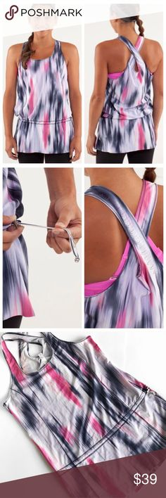 """"""" * the tunic is long to cover your ass(ets) * perforated artwork makes it easy for you to keep your cool * cinch the continuous drawcord to fine-tune the fit * four-way stretch means this tunic will move everywhere you do * chafe-resistant seams so sweaty skin doesn't get irritated 💕Offers welcome on single items and on bundles. Take 20% off your bundles automatically at check out. Happy Poshing!💕 lululemon athletica Tops"""