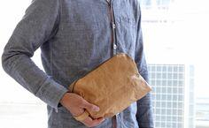 Fly Bag Super Light Multi Purpose Zip Case Version 4.0 (Brown) - Hamee