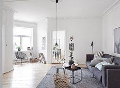 Gaaf grijs Zweeds interieur