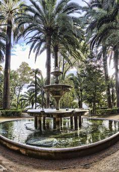 Fountain, Carmen de los Martires near Alhambra, Spain