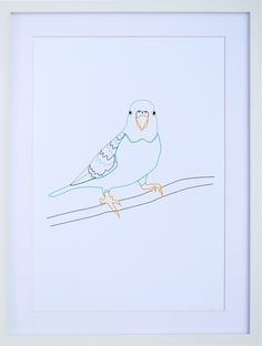 Parakeet I could embroider this