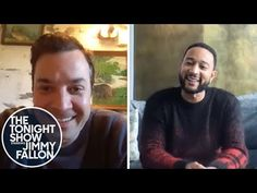 """The Tonight Present: At Residence Version (John Legend) Jimmy Fallon brings John Legend to his social gathering to focus on a charity and carry out his tune """"Actions"""" through video chat in one other Tonight Present house version. Tonight, Jimmy l. Jimmy Fallon Wife, Nancy Juvonen, Kid Ink, Trinidad James, Tonight Show, John Legend, Celebrity Dads, Chris Hemsworth, Night Time"""