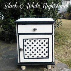 DIY home crafts  : DIY Black White Nightstand