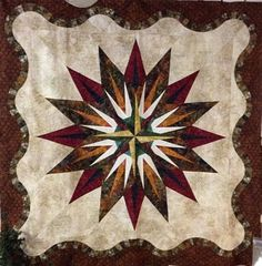 Vintage Compass, Quiltworx.com, Made by Donna Hoyt.