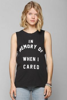 Feather Hearts In Memory Muscle Tee #urbanoutfitters
