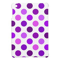Shades Of Purple Polka Dots iPad Mini Cases