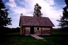 A replica of the log cabin where Laura Ingalls Wilder was born.   ~Laura Ingalls Wilder was born on February 7, 1867 in a small cabin seven miles north of Pepin, Wisconsin.  She spent her early childhood living here with her Ma, Pa and sisters in the Big Woods