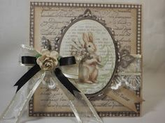 My very clever friend Cathy created this stunning Easter card - divine!