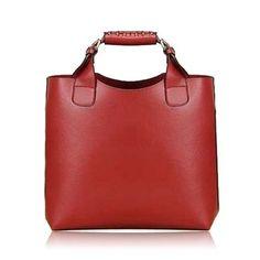 Vintage Women's Leather Handbag With Buckle and Solid Color Design Trendy Handbags, Vintage Handbags, Fashion Handbags, Fashion Bags, Leather Purses, Leather Handbags, Tote Handbags, Wholesale Tote Bags, Tote Purse