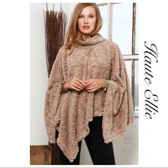 one size ladies poncho with ruffled and pearl border varous colours