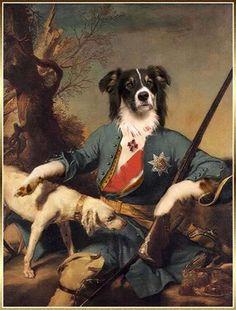 Valerie Leonard peint des portraits de chiens et de chats d'après des œuvres célèbres de grands peintres
