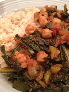 366 Meals We Made: #259 Curried Chickpeas & Greens (kale)