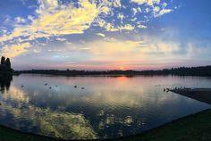 #willanlake was stunning this morning. Shame the sun didn't stay  #sunrise #miltonkeynes #landscape #