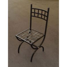 Chair Wrought Iron. Customize Realizations. 445 Dining Chairs, Outdoor Chairs, Outdoor Furniture, Outdoor Decor, Chair Bench, Wrought Iron, Restaurant, Home Decor, Yard Landscaping