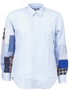 Junya Watanabe Comme Des Garçons Man patchwork sleeve shirt