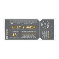 一味違った招待状をお探しの方に。切符デザインのウェディングインビテーション。 #zazzle #ウェディング #結婚式 #招待状