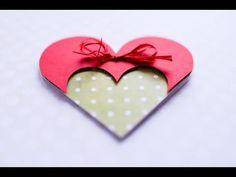 How to Make - Greeting Card Valentine's Day Heart - Step by Step DIY | Kartka Walentynki - YouTube