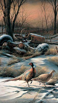 Rusty Refuge IV-Pheasants Pinnacle Print by Terry Redlin   Wild Wings