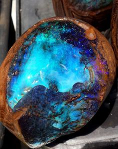 #Opal – Famous for its internal glowing color, which takes on myriad hues and shades, rather like smoldering flames in a block of ice. #EyeCandy #OpalRock #OpalJewelry ✨